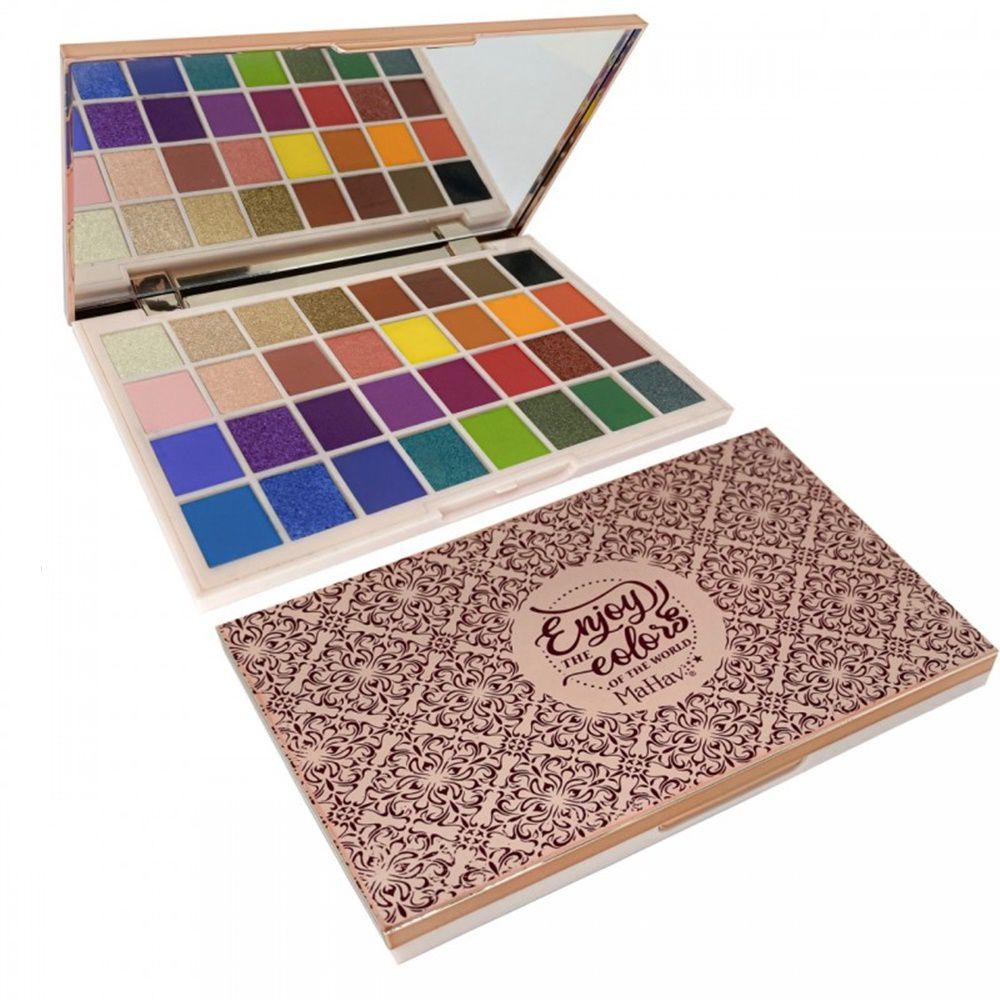 Paleta de Sombras 32 Cores Enjoy the Colors of The World Mahav