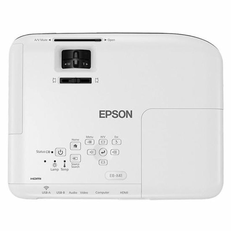 Projetor Epson Powerlite S41+ 3 LCD Svga 3300 Lumens Hdmi Branco