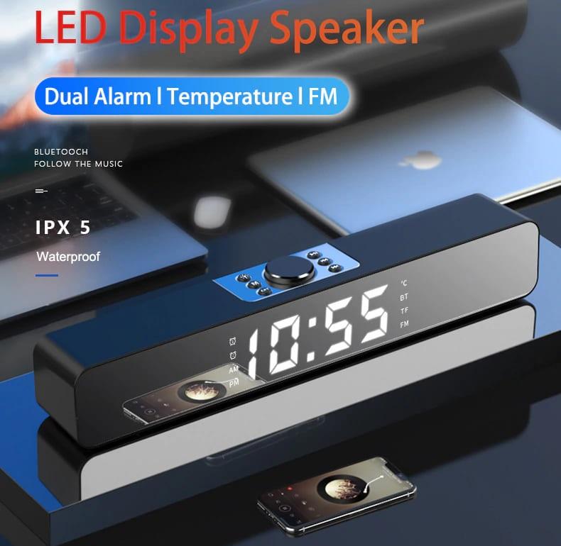 Rádio Relógio Bluetooth Temperatura FM USB MicroSD AUX