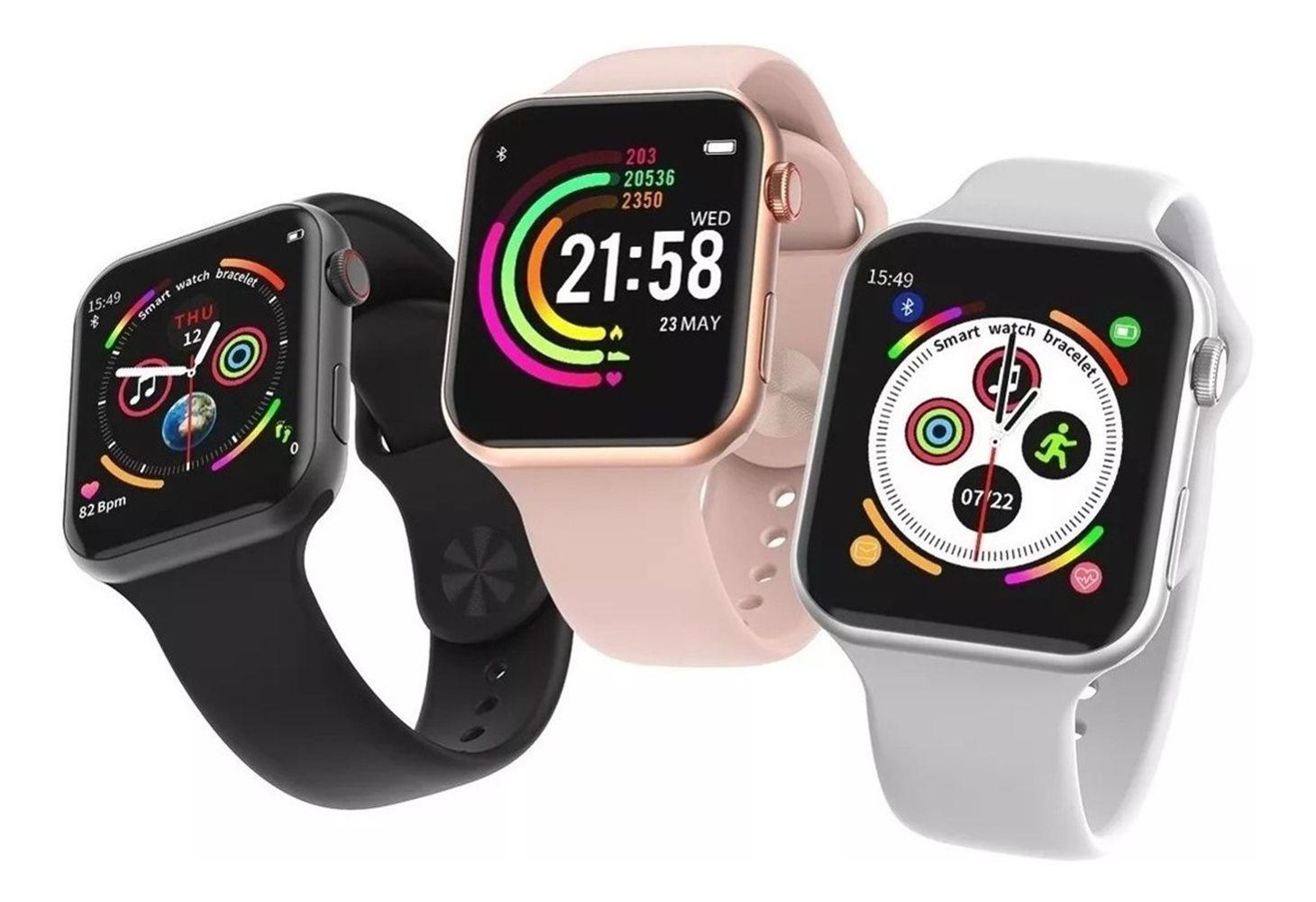 Relógio Smartwatch F10 Full Touch à Prova d'água 1.54 Polegadas Android iOS