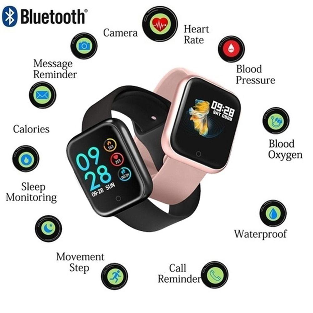 Relógio Smartwatch T80 com 2 Pulseiras IP68 compatível com Strava e Monitor Cardíaco