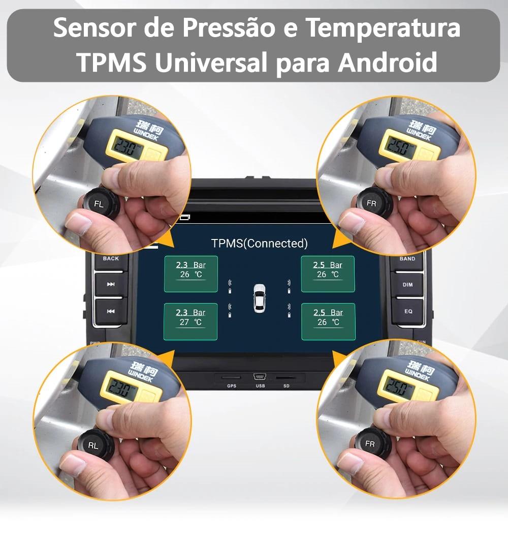 Sensor Pressão e Temperatura TPMS Automotivo Android