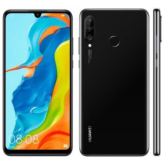 Smartphone Huawei P30 Lite Midnight Black 128GB, Dual Chip, Tela de 6.1, 4G, Câmera Traseira Tripla, Android 9.0, Processador Octa-Core e 4GB de RAM