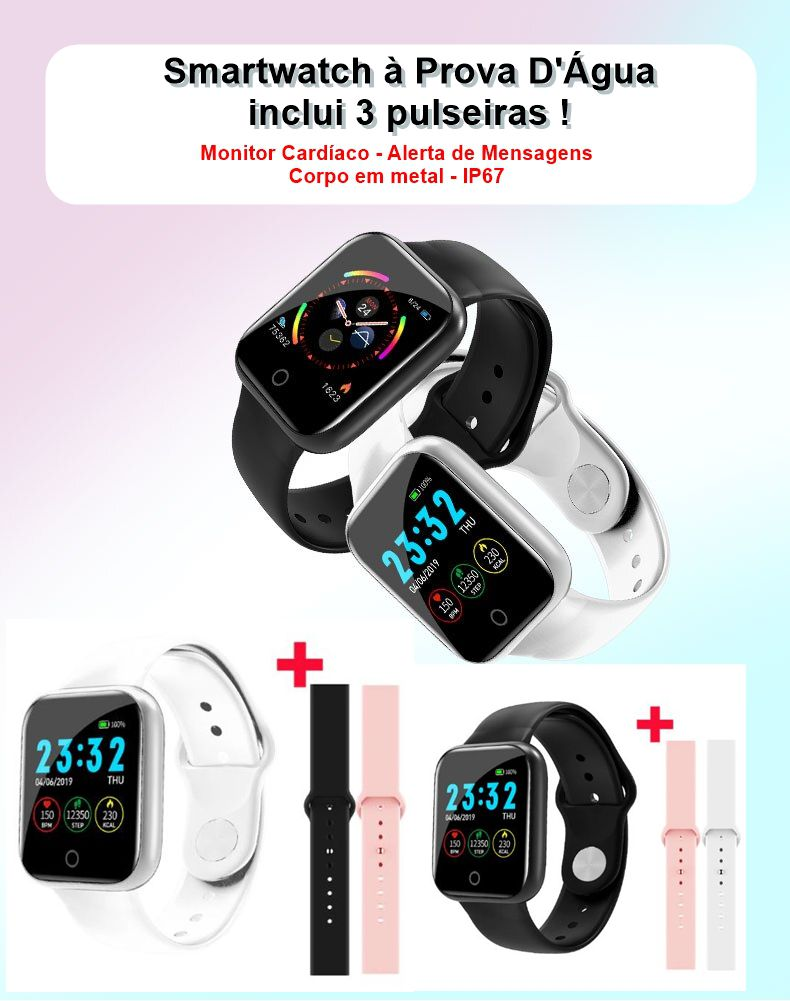 Smartwatch SYSOTORYU WhatsApp 1.3 pol. Prova Dágua Monitor Cardíaco