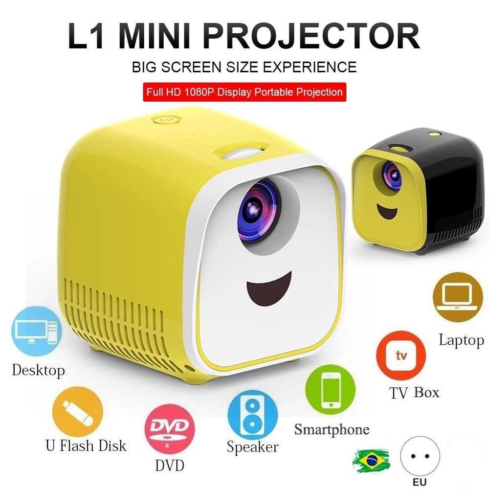 Super Projector L1 - Projetor FULL HD em LED com HDMI USB Media Player 1080P