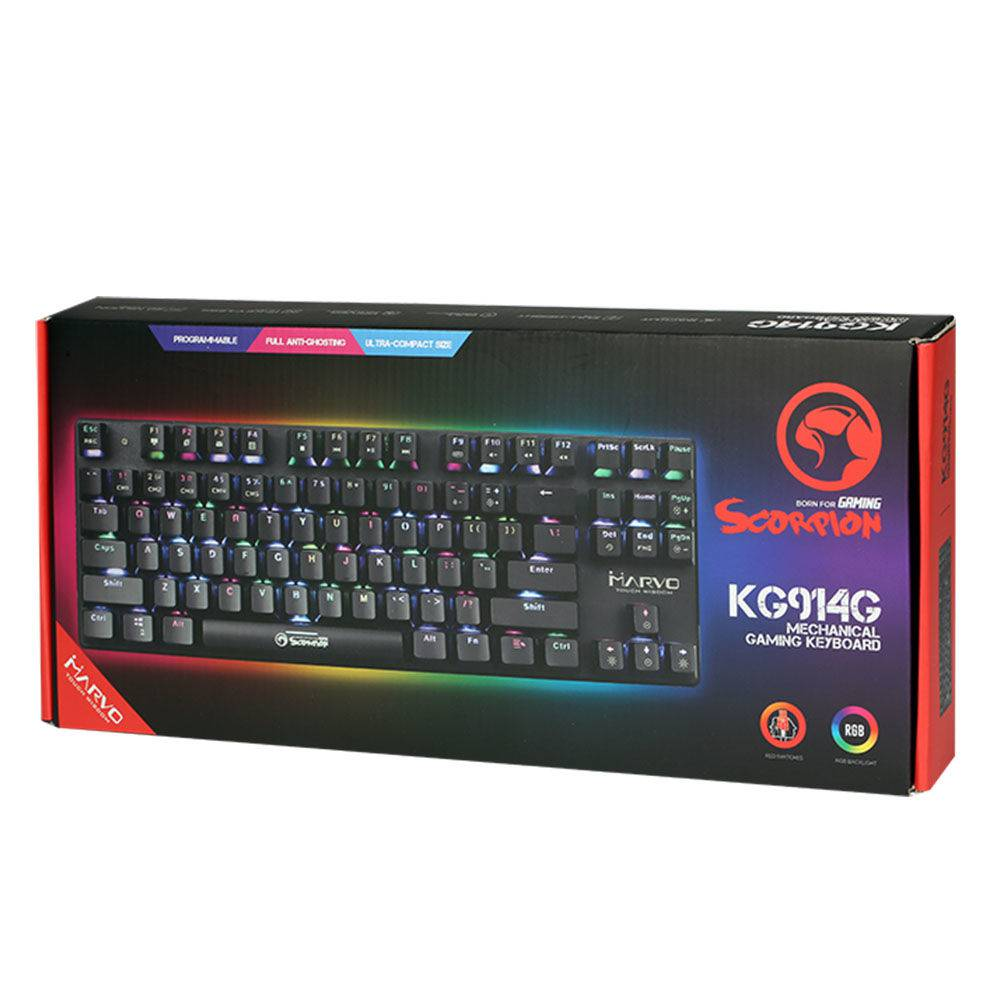Teclado Gamer Marvo Scorpion KG914G Mecânico