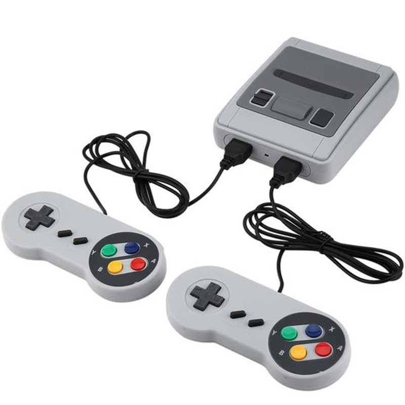 Vídeo Game Mini SNES com 600 Jogos e 2 Controles