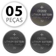 Kit 05 Bateria De Lithium 3v - Modelo Botão