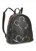 Bolsa Mochila Feminina Mickey Mouse Preta Original