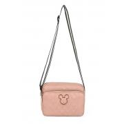 Bolsa Pequena Transversal Lateral Rosê Mickey Original