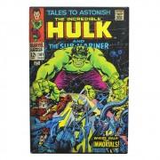 Cofre Falso Livro Capa HQ Marvel Com Fechadura Hulk Original
