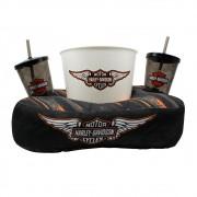 Kit Amolfada Para Pipoca c/ 2 Copos Harley Davidson Original