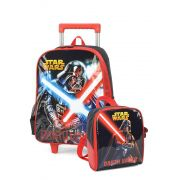 Kit Mochila Rodinha + Lancheira Star Wars Vermel Darth Vader