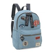 Mochila Escolar Up4you Patchwork Estilo Tumblr Jeans Patches