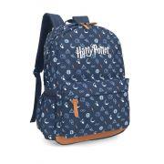 Mochila Harry Potter Símbolos Óculos Triangulo Azul
