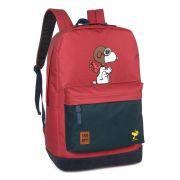Mochila Juvenil Snoopy  Peanuts Aviador Vermelha Original