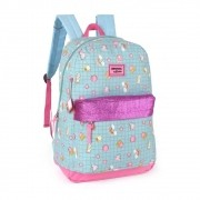 Mochila Maisa Up4You Glitter Arco Iris Insta Verde Original