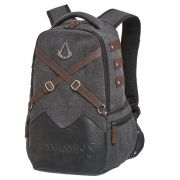 Mochila Notebook Assassins Creed Grande Original NF Cinza