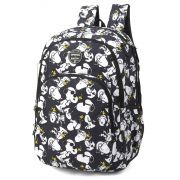 Mochila Notebook Peaunuts Snoopy by Up4You Preta Original