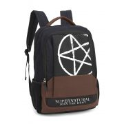 Mochila Notebook Sobrenatural Supernatural Símbolo Pentagram