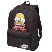 Mochila Os Simpsons Donuts Grande Preta Original NF Garantia