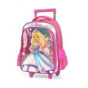 Mochila Rodinha Barbie Sereia Pink Mochilet Glitter Original