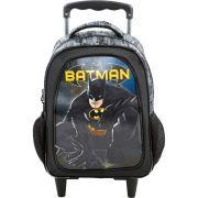 Mochila Rodinhas Batman 3d Holográfica Preta Original Nota