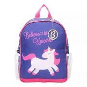 Mochila Unicórnio Larissa Manoela Belives in Unicorns Rosa e Azul