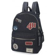 Mochila Up4you Patchwork Estilo Tumblr Patches Preta