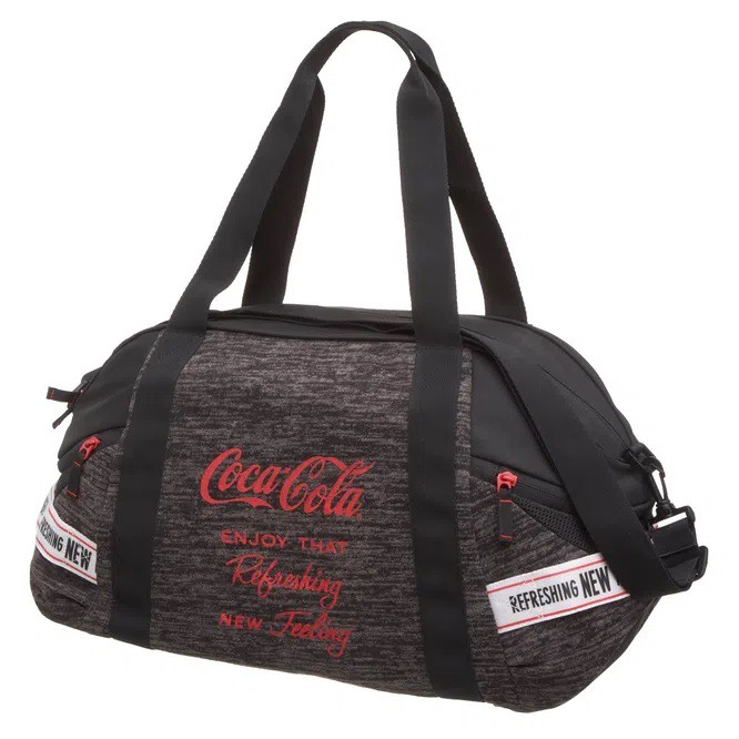 Bolsa Academia Coca Cola Bags Cinza G Produto Original