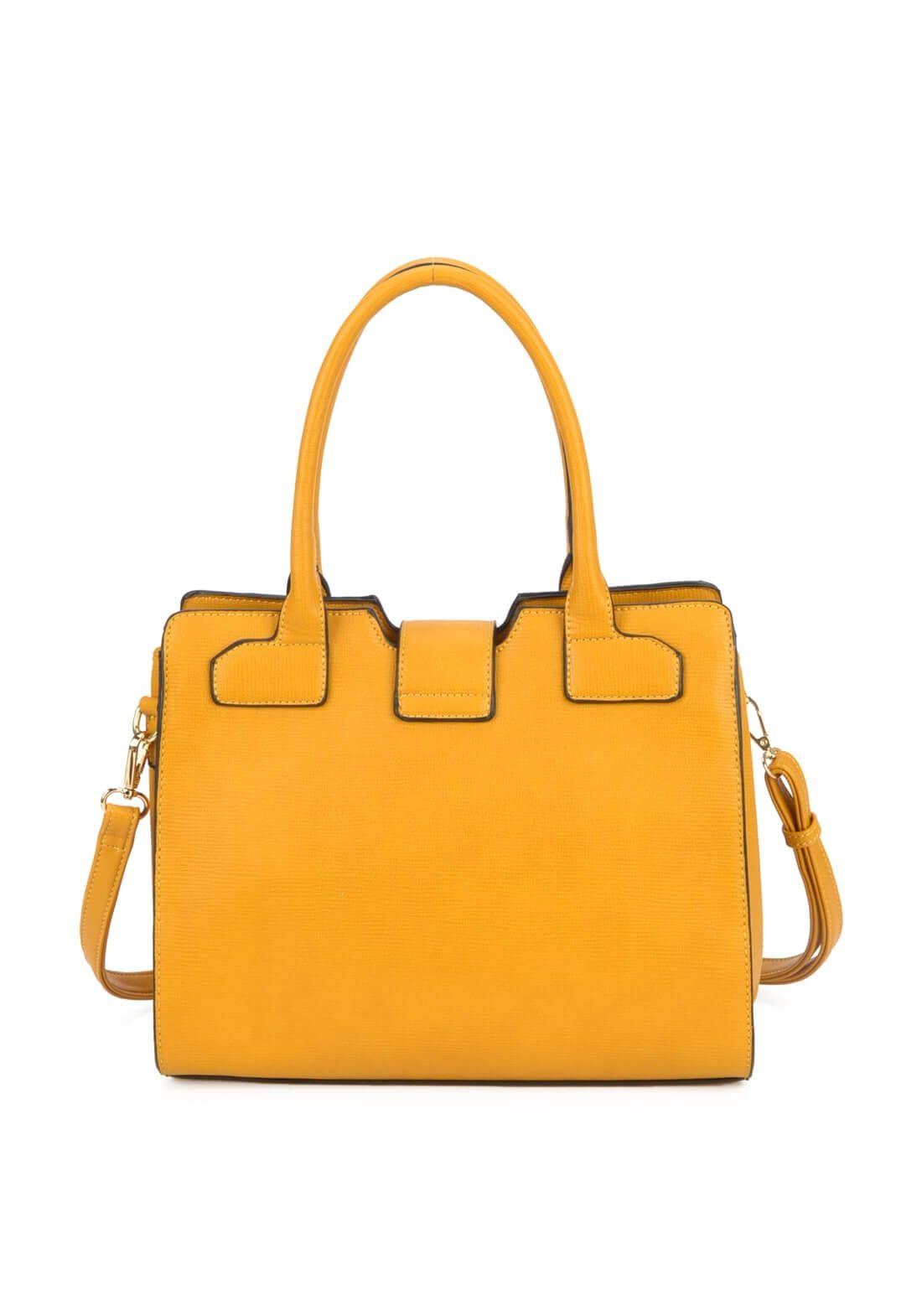 Bolsa Feminina Amarelo Mostarda Rígida Gash Original