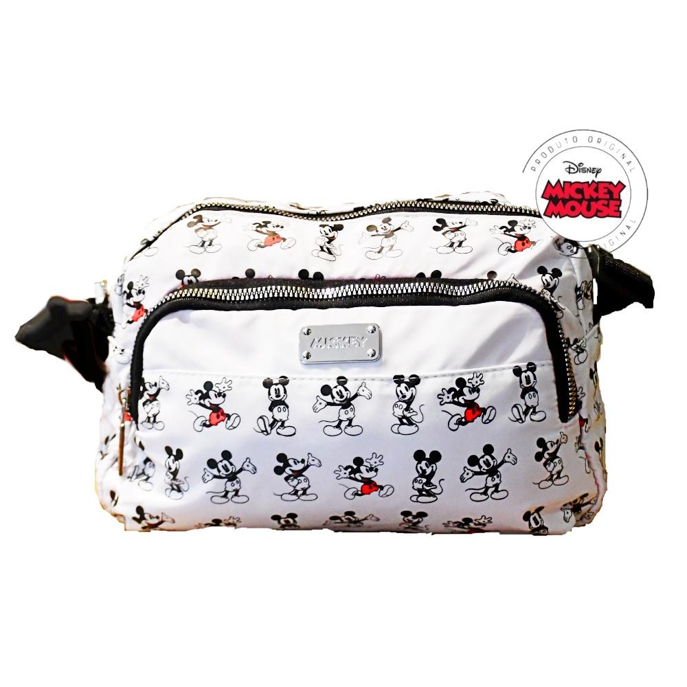 Bolsa Feminina Transversal Mickey Off White Pequena Original