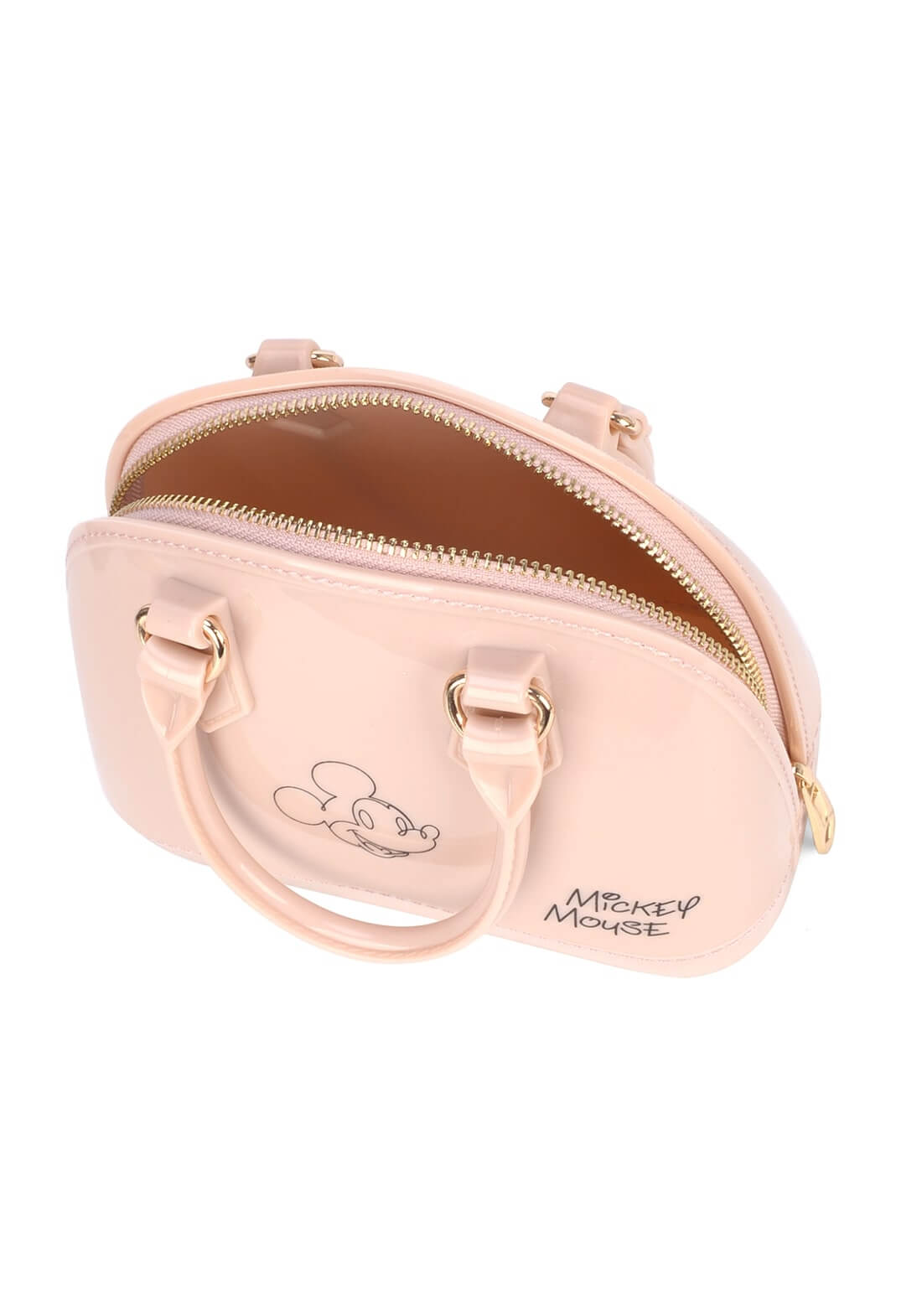 Bolsa Mickey Mão Pequena Disney Original Nude Transversal