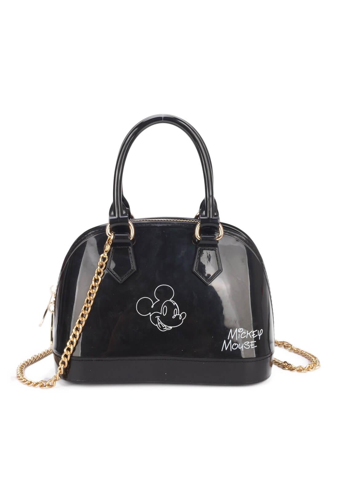 Bolsa Mickey Mão Pequena Disney Original Preta Transversal