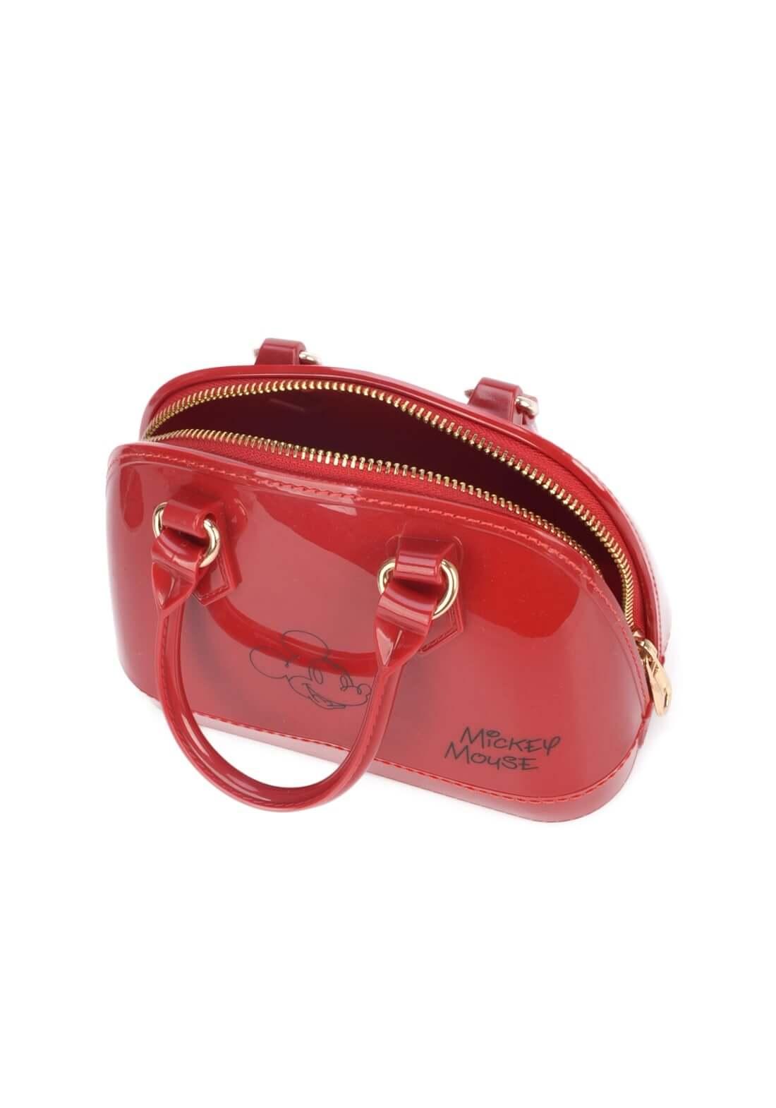 Bolsa Mickey Mão Pequena Disney Original PVC Vermelha