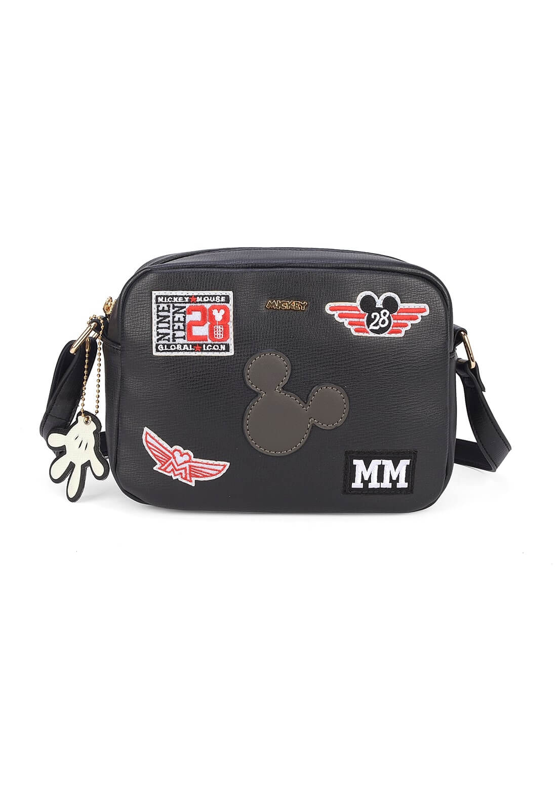 Bolsa Mickey Retrô Transversal Bottons Luvinha Original