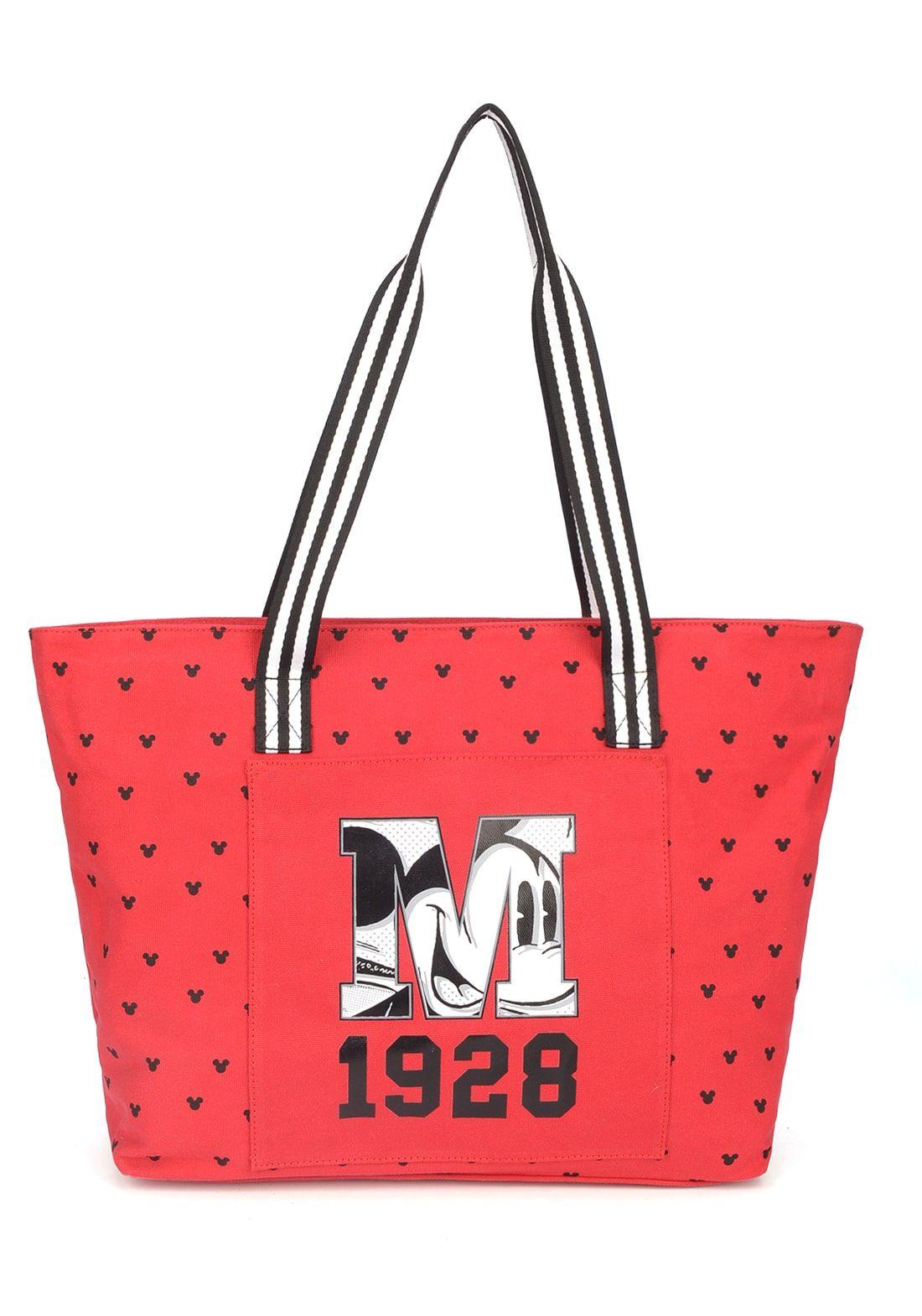 Bolsa Mickey Vermelha Bolsa Tote Disney 90 Anos Original