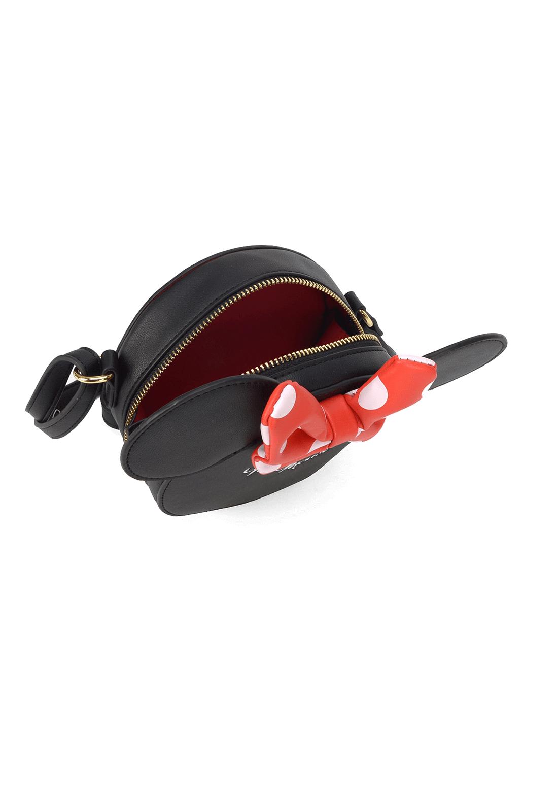 Bolsa Minnie Transversal Laço Minnie Orelhinhas Original