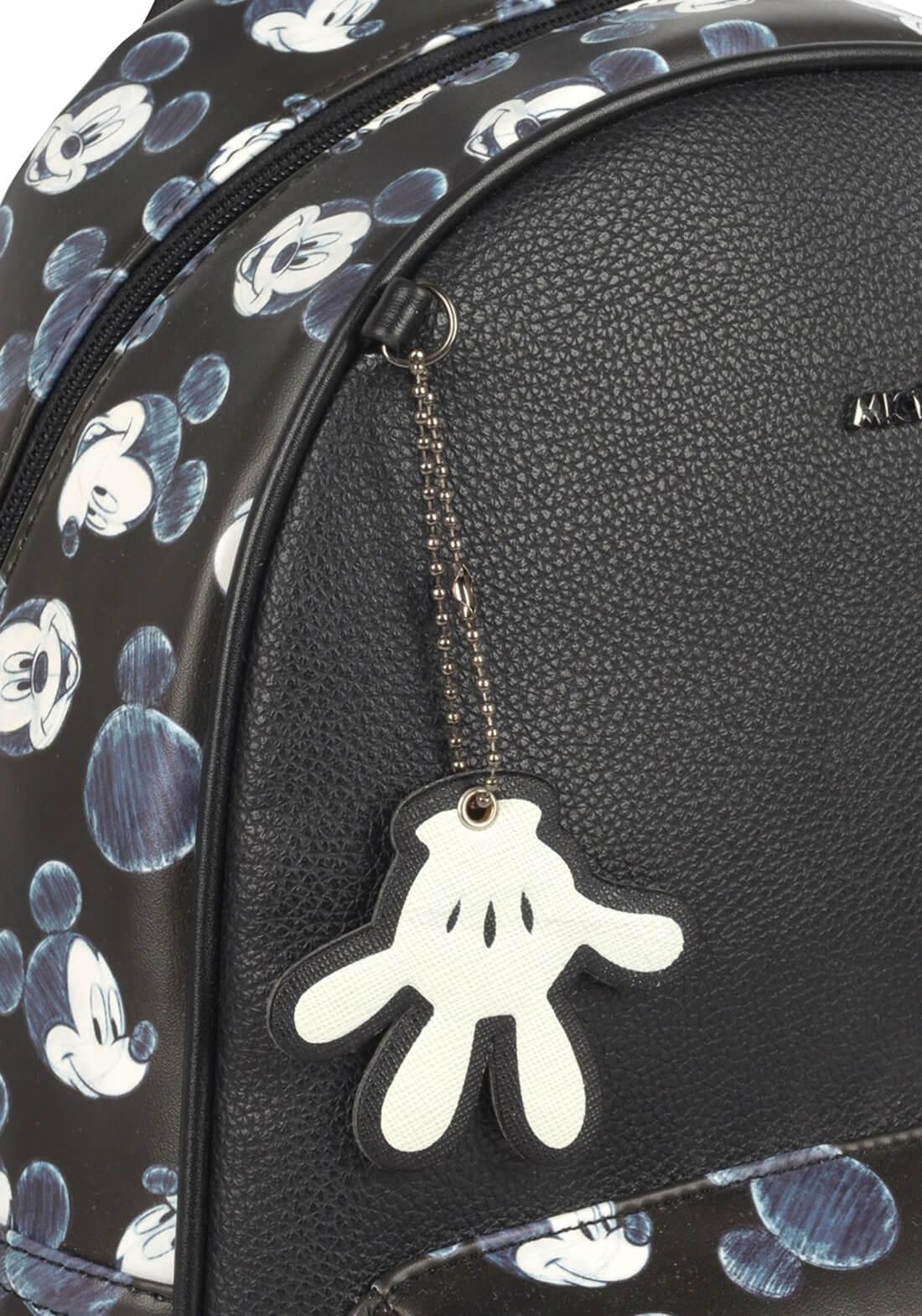 Bolsa Mochila Chaveiro Mickey Mouse Disney Preta Original
