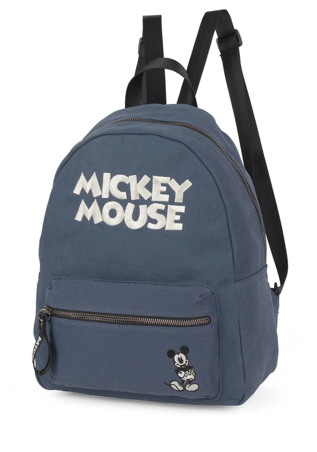 Bolsa Mochila Feminina Mickey Mouse Disney Azul Original