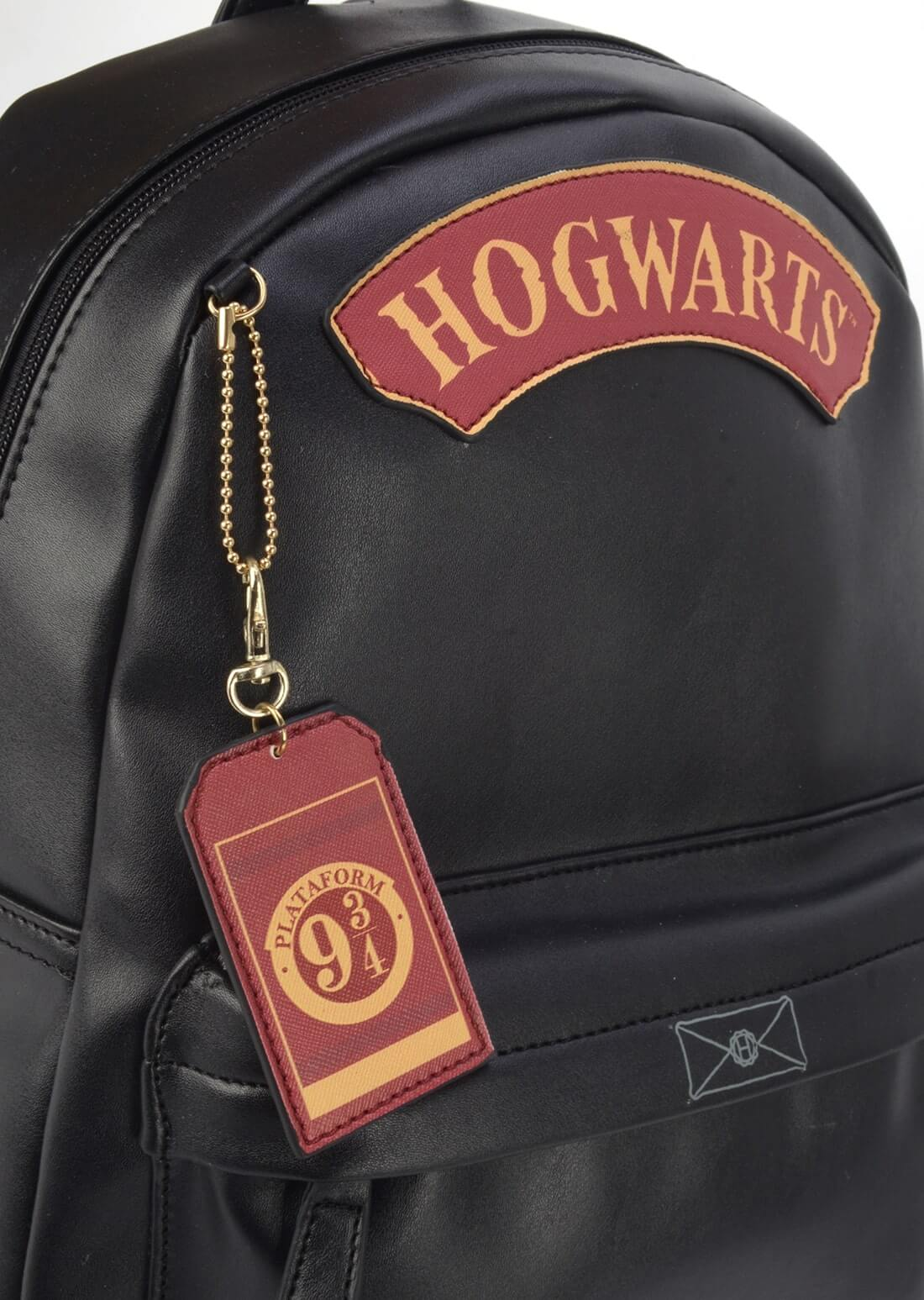 Bolsa Mochila Harry Potter Hogwarts 9 3/4 Couro Sintético