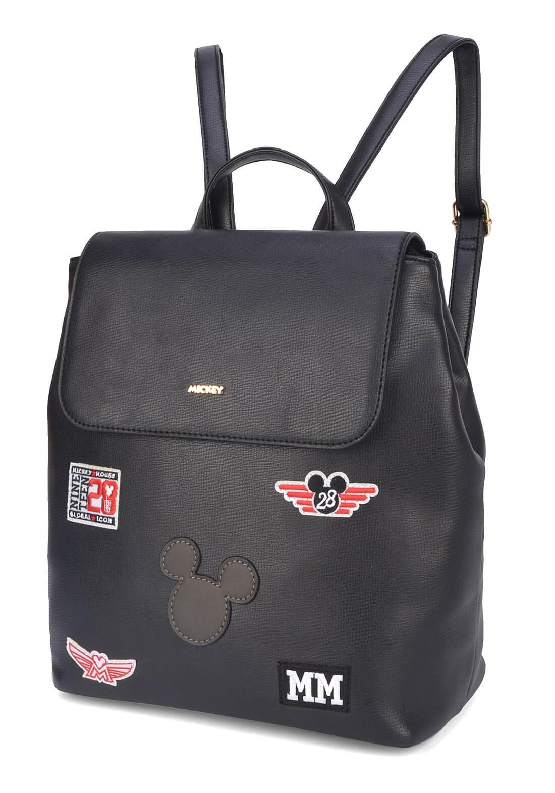 Bolsa Mochila Mickey Preta Tipo Saco Mochila Original Disney