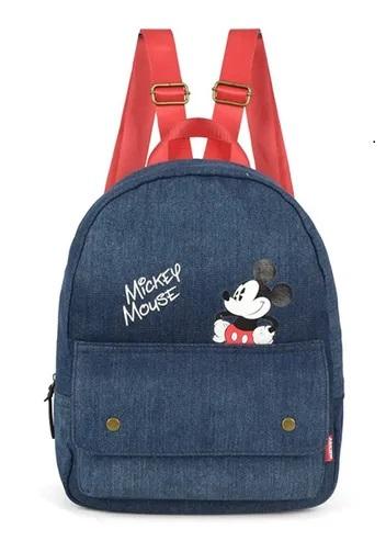 Bolsa Mochilinha Mickey Mouse Jeans Disney Produto Original
