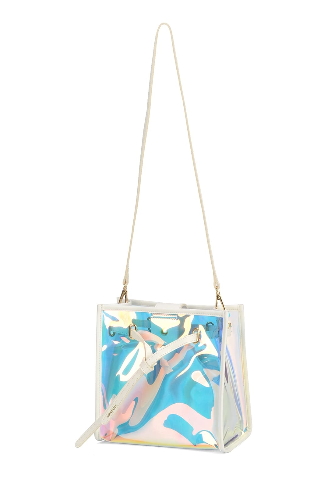Bolsa Ombro Holográfica UP4YOU Transparente Transversal