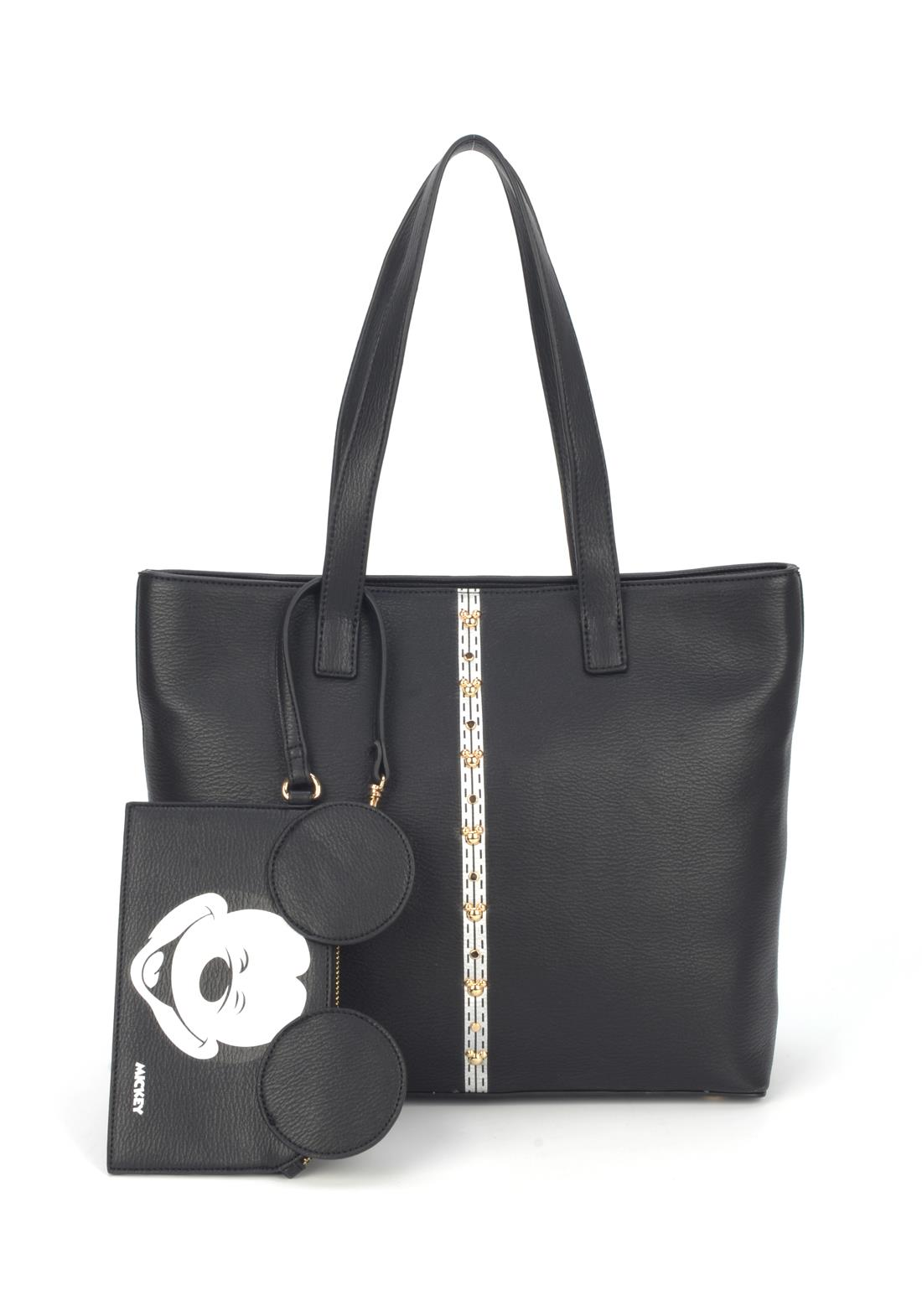 Bolsa Ombro Mickey Mouse com Necessaire Preta Original