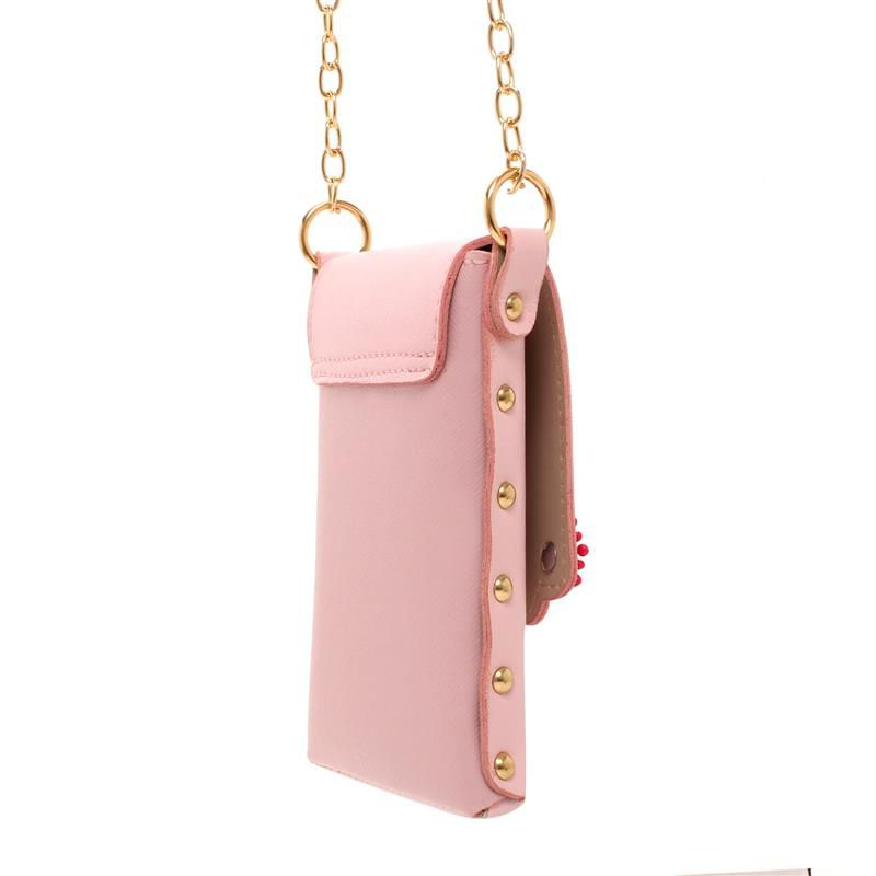 Bolsa Porta Celular Unicórnio Transversal Rosa