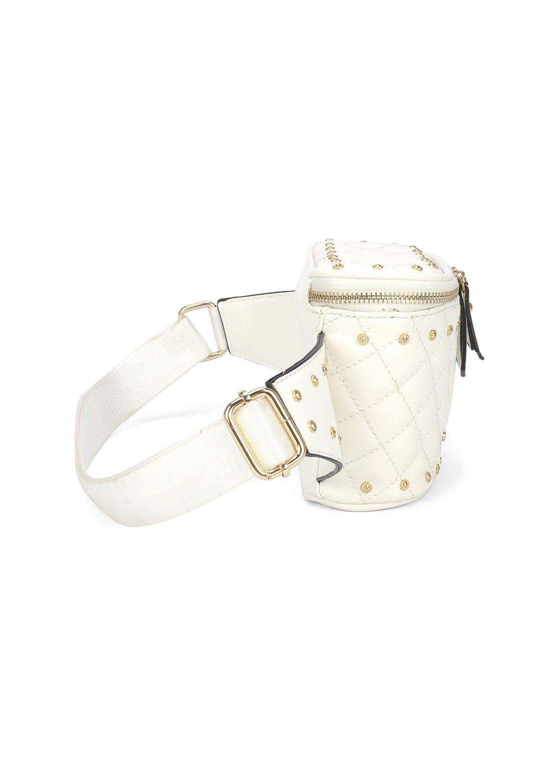 Bolsa Pochete Feminina Up4you Matelassê Off White Original