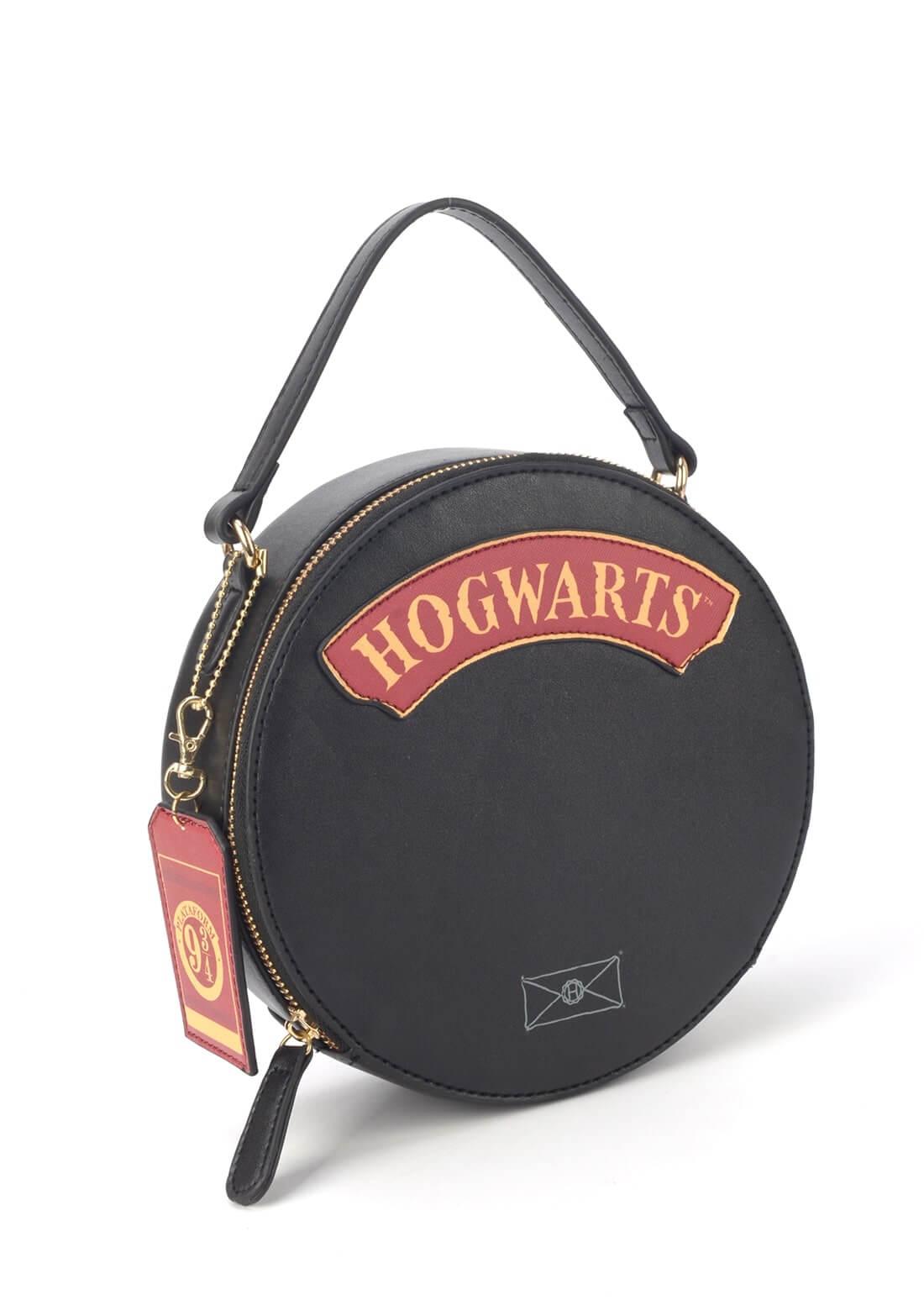 Bolsa Redonda Cantil Harry Potter Couro Sintético Hogwarts
