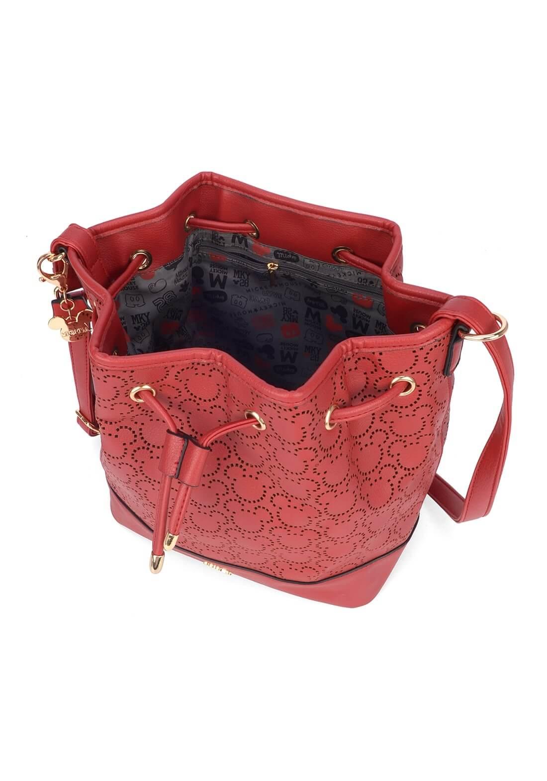 Bolsa Saco Mickey Vermelha Disney Transversal Original