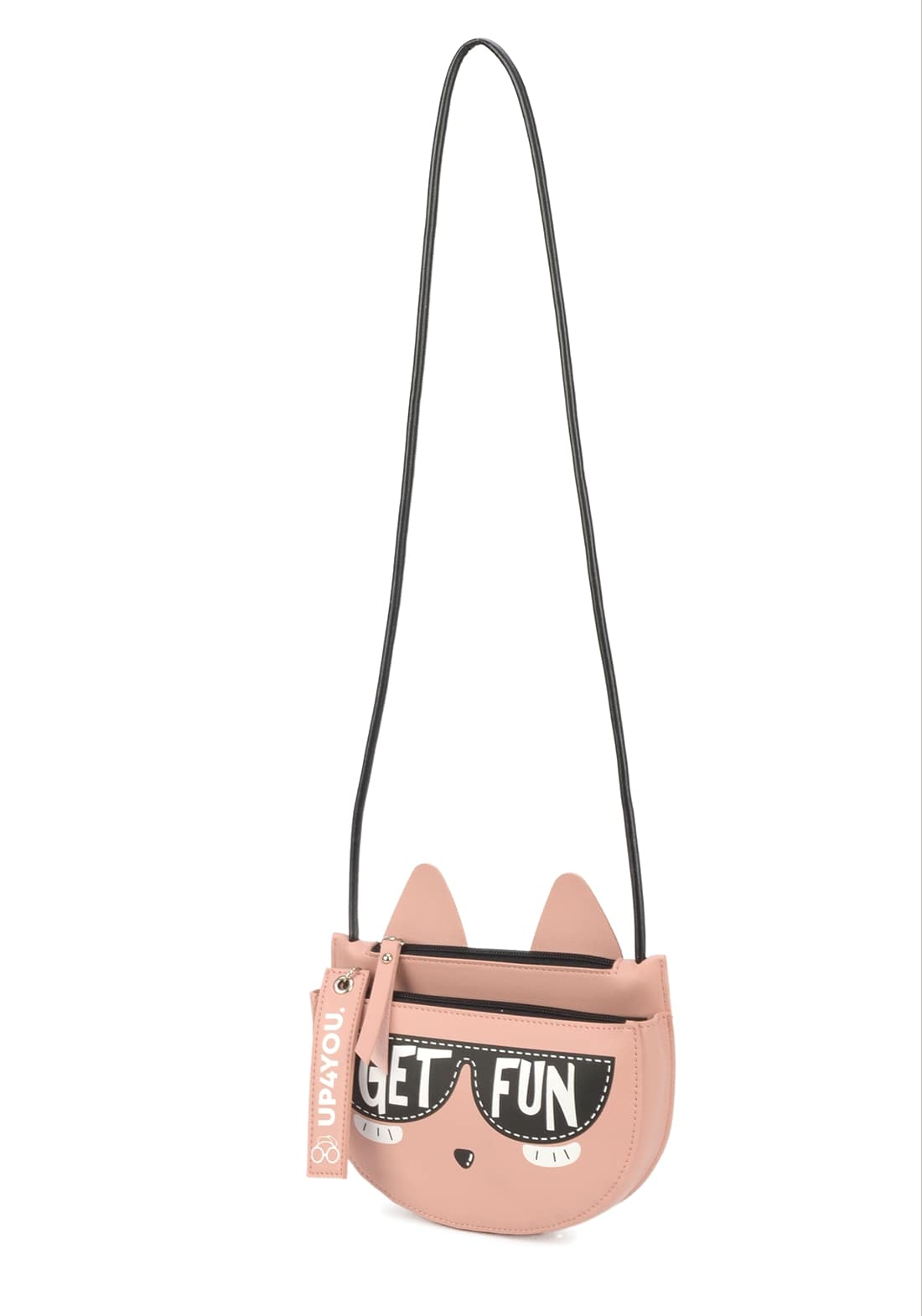 Bolsa Transversal Gatinho Com Alca Up4you Rosa Original